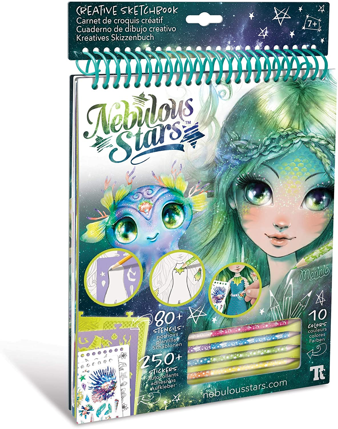 Creative Kids Sketchbook Set - 35 Ranking TOP3 and Pa White Colored San Antonio Mall Stenciled
