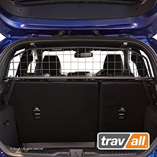 Travall Guard compatible with Ford Fiesta Hatchback (2017-Current) TDG1542 - Rattle-free Steel Pet Barrier