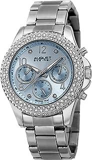August Steiner Diamond Women's Light Blue Dial Stainless Steel Band Watch - AS8136SSLB