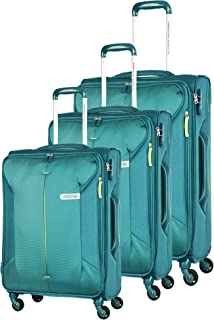 American Tourister Luggage Trolley Bags for Unisex, 3 Pieces - Green