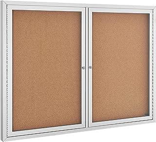 Enclosed Bulletin Board - Cork - Aluminum Frame - 48