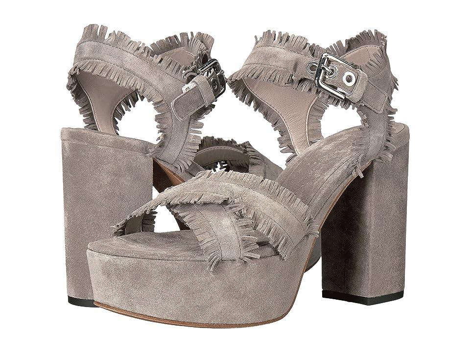 Kennel & Schmenger Kenda Fringe Platform Sandal (Stone Suede) Women