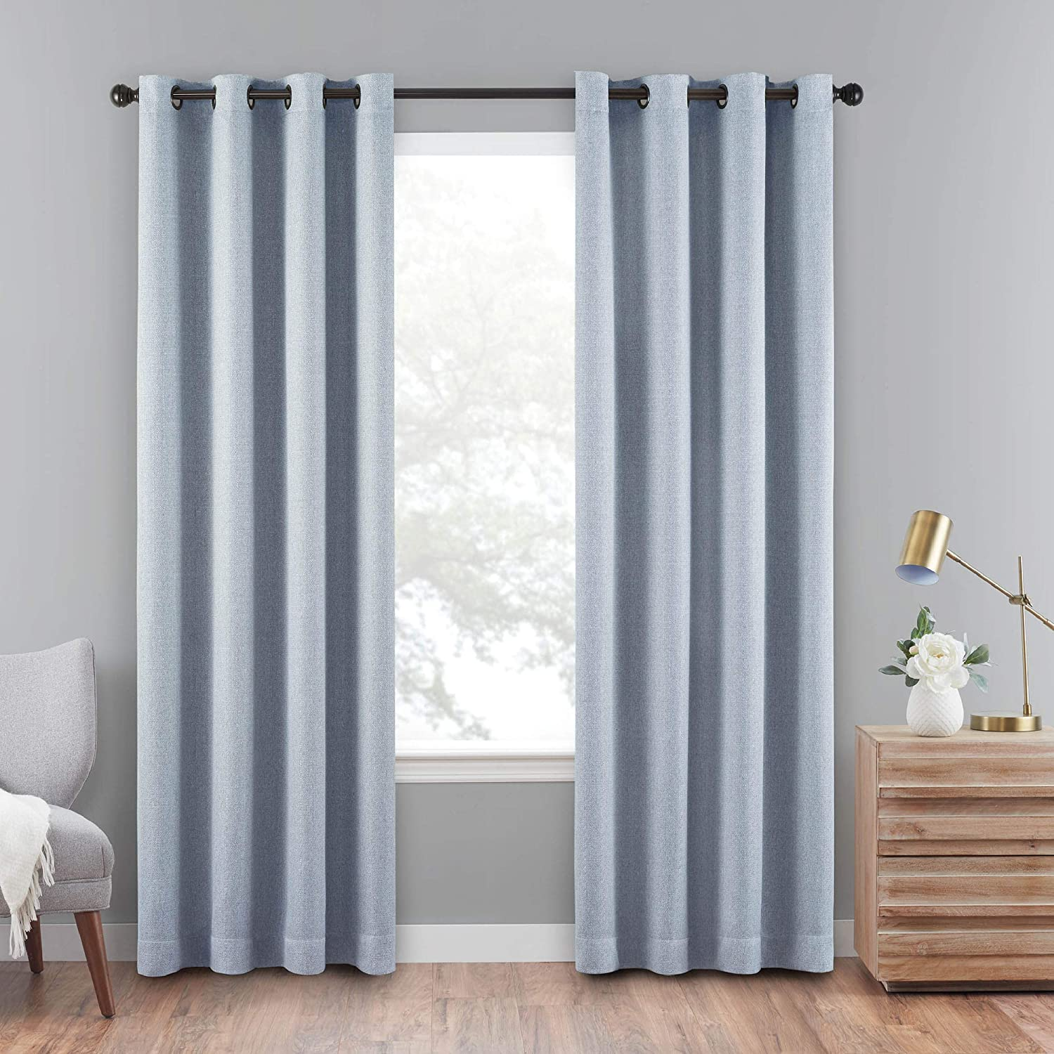 Eclipse Cara Grommet Top Curtains for Panel Dedication Single 50