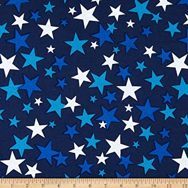Windham Fabrics Whistler Studios 108'' Quilt Back Patriotic Stars Fabric, Navy
