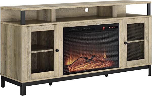 Ameriwood Home 1838878COM Marxen Fireplace TV Stand Natural