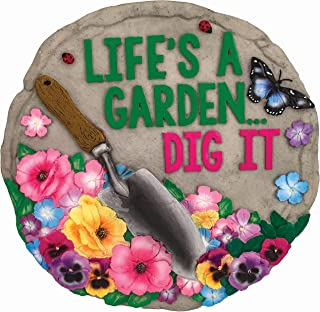 Spoontiques 13236 Life's a Garden Stepping Stone, Multicolored