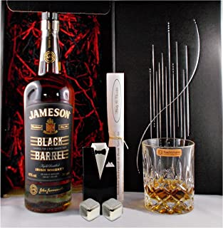 Geschenk Jameson Black Barrel irischer Whiskey  Whisky Glas  2 Kühlsteine