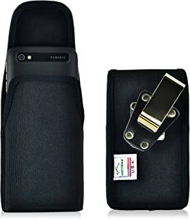 Turtleback Holster Compatible with BlackBerry Classic Q20, Pouch Belt Clip Case, Magnetic Closure (Black Nylon/Rotating Clip) - Made in USA