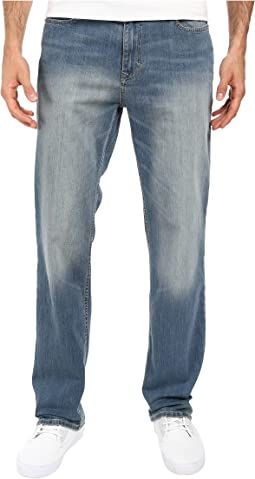 Straight Denim in Silver Bullet