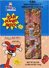 Sour Power Wrapped Belts, Strawberry, Individually Wrapped Belts, 150 Wrapped Belts, 52.9 Ounce