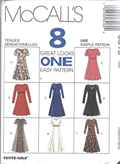 8518 Uncut Vintage McCalls Sewing Pattern Misses Semi Fitted Dress Princess Seams Size 8 10 12