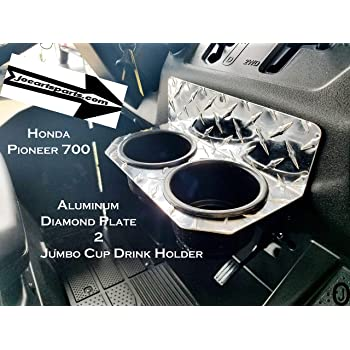 2 Pack Drink Cup Holders,Cup Holder Front Rear Drink Bottle Holders Compatible with Honda Pioneer 700-4 1000-5 14-19 Front Rear Doors