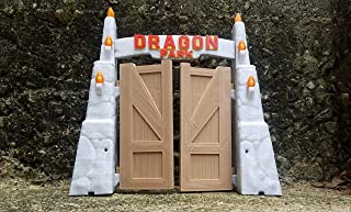 ONESHOT3D Dragon Park - Reptile Habitat Decor - Jurassic Park Themed Bearded Dragon Gates - Hideaway