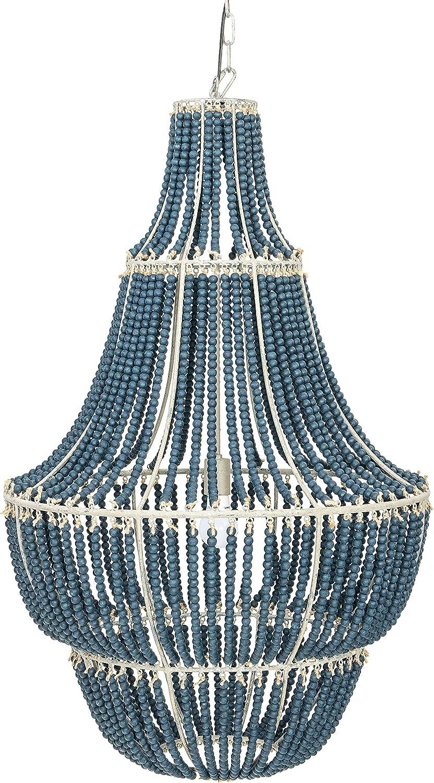 Creative Co-Op Max 71% OFF EC0297 Excellent Metal Chandelier Chandlier with Wood Beads