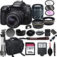$1179 » Canon EOS 90D DSLR Camera with 18-55mm STM Lens+ 128GB Card, Tripod, Case, and More (22pc Bundle)