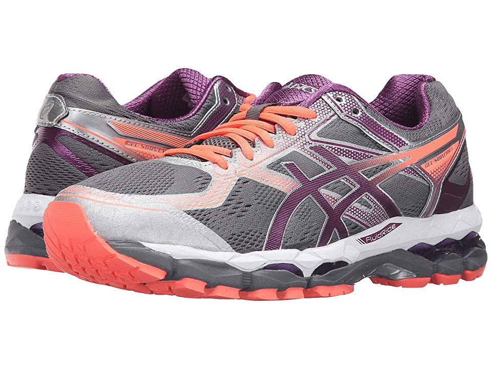 ASICS Gel-Surveyor(r) 5 (Shark/Phlox/Flash Coral) Women