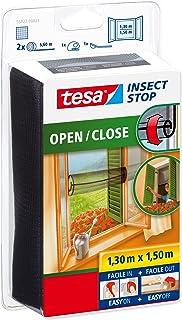 TESA 55922-00021-00 55922-00021-00-Malla Anti-Insectos para contraventanas Blanca, 1,3mx1,5m, Negro