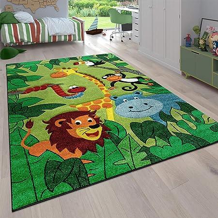 Tapis Poils Ras Chambre Enfant Diff/érents Designs Tapis Jeu Color/é Paco Home Tapis Enfant Couleur:Beige Dimension:80x150 cm