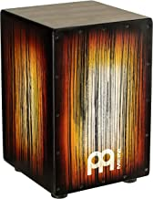 Meinl Percussion Box Drum with Internal Metal Strings for Adjustable Snare Effect-NOT Made in China Full Size, 2-Year Warranty, Amber Tiger Stripe Cajon (HCAJ2AMTS)