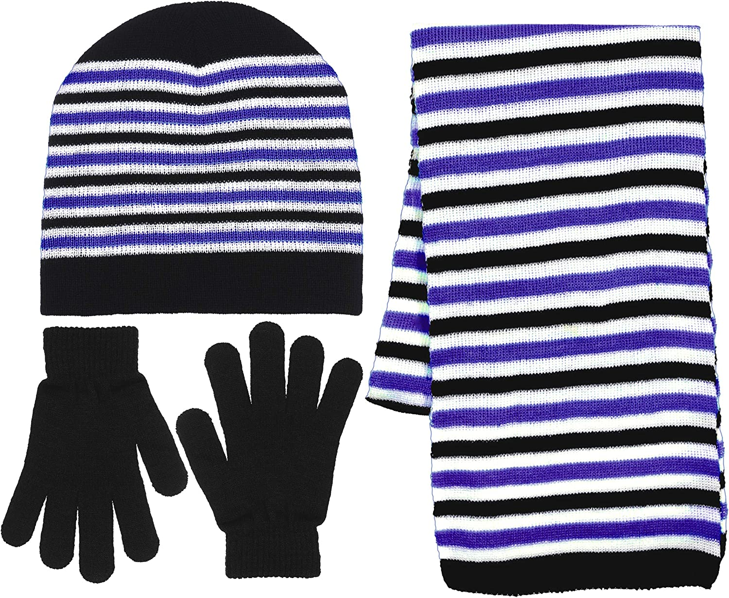 Girls 3 Piece Knit Hat Scarf Memphis Mall Gloves 6 Colors Set a In Charlotte Mall Winter