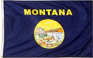 Annin Flagmakers Model 143160 Montana State Flag 3x5 ft. Nylon SolarGuard Nyl-Glo 100% Made in USA to Official State Design Specifications.