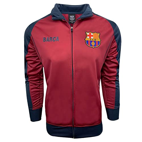 9a2ae9d0358 Barcelona Track Jacket, Kids and Adults Sizes, Soccer Football Jacket  Burgundy Color,Official