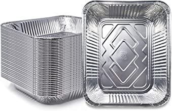 "(30 Pack) Premium Lasagna Pans 14"" x 10"" x 3"" Extra Heavy Duty l Disposable Aluminum Foil for Roasting Turkey, Baking, or ..."