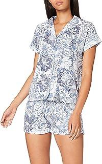 Pijama Camisero Corto Floral