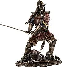 Top Collection Medieval Japanese Samurai Statue - General Minamoto Warrior Sculpture in Premium Cold Cast Bronze - 8.25-Inch Collectible Figurine