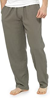 CityComfort Trousers for Men, Linen Trousers Mens with Elasticated Waist, Casual Summer Mens Clothes, Full Length Mens Pan...