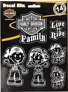 CHROMA 5390 White Harley-Davidson Family Decal Kit