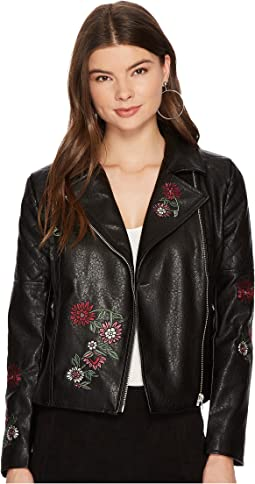 Rannie Embroidered Moto Jacket