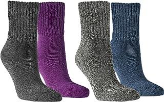 Vitasox, Vita Sox Mujer Calcetines Super Soft algodón calcetines para mujer trabajo Calcetines Algodón Calcetines sin goma 4 unidades Multicolor 2Paar anthrazit & 2Paar lila