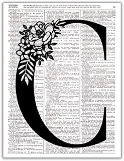 C - Monogram Wall Decor, Letter Wall Art, Dictionary Page Photo Art Print, 8x10 UNFRAMED