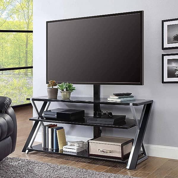 惠伦家具月的月棕色电视支架电视达 70