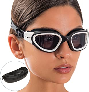 AqtivAqua Wide View Swim Goggles // Swimming Workouts - Open Water // Indoor - Outdoor Line