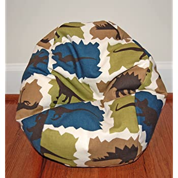 Ahh Multicolor Products Dinosaurs Camouflage Kid Bean Bag Chair