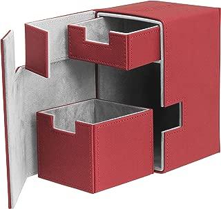 Flip N Tray Xenoskin Deck Case 100/120 Card, Red