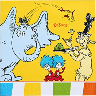 BirthdayExpress Dr Seuss Cat in The Hat Party Supplies - Lunch Napkins (20)