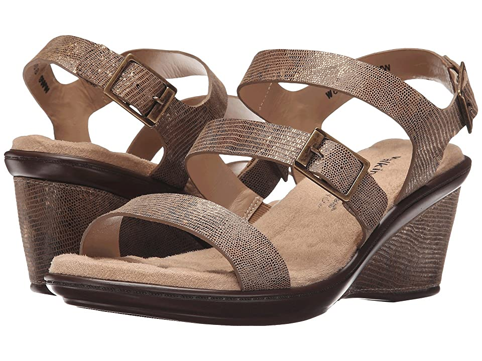fdf502546a0 Walking Cradles Lean (Taupe Gold Lizard Print White Leather) Women s Shoes