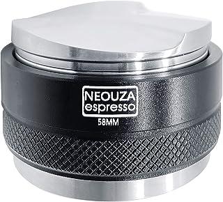 NEOUZA 58mmコーヒーディストリビューター&タンパー2 in 1、デュアルヘッドコーヒーレベラーはE61グループマシンに適合