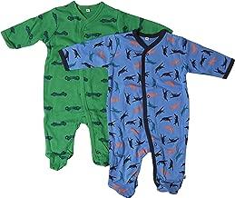 Farbe: Dunkelblau Alter 3-4 Jahre Gr/ö/ße: 104 3821 Langarm mit F/ü/ßen Pippi 2er Pack Kinder Jungen Schlafstrampler mit Aufdruck