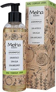 Meina Naturkosmetik - Bio Shampoo mit Orange, Zitronengras und Lavendel - Vegan Haarshampoo mit ohne Mikroplastik, Silikone, Sulfate und Parabene