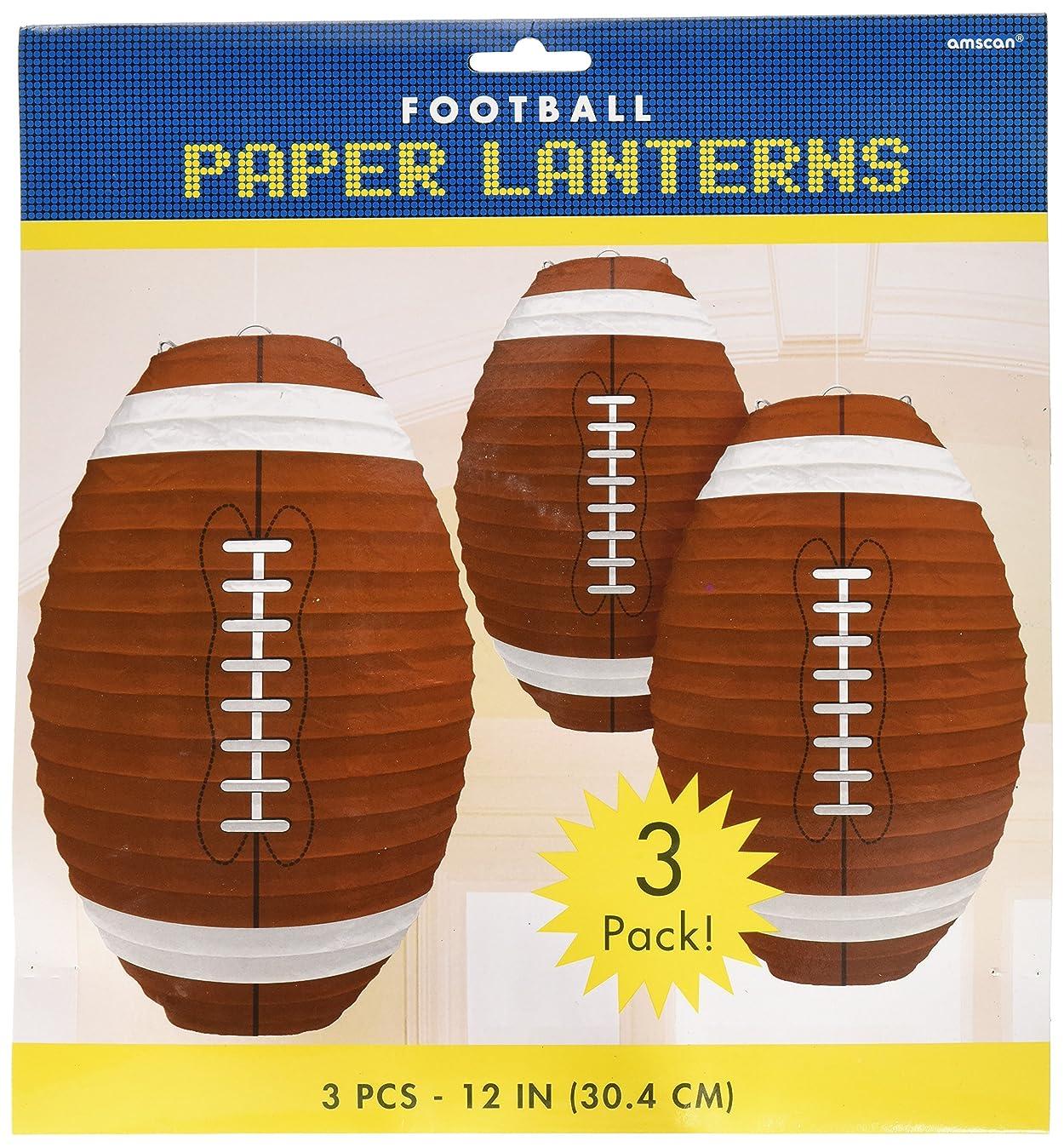 Football-Shaped Paper Lanterns