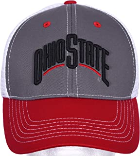 Fan 1 Ohio State Buckeyes Eliminator Ball Cap Adjustable Mesh Back Scarlet-Gray-White,One Size Fits Most