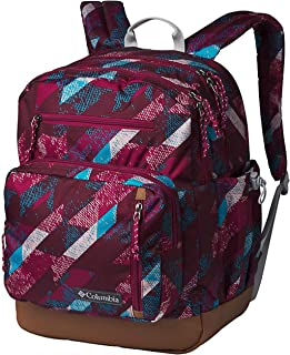 "Columbia Unisex Laptop 15"" Northern Pass II Backpack Daypack (Wine Berry Geo Dashed Camo)"
