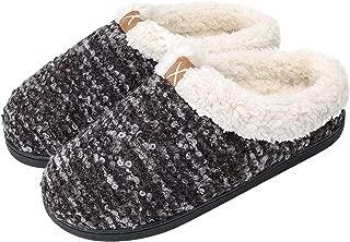 Women's House Slippers Comfort Memory Foam Fuzzy Winter Home Shoes Slip On Indoor Outdoor