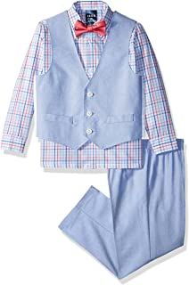 IZOD Boys' Plaid Vest Set