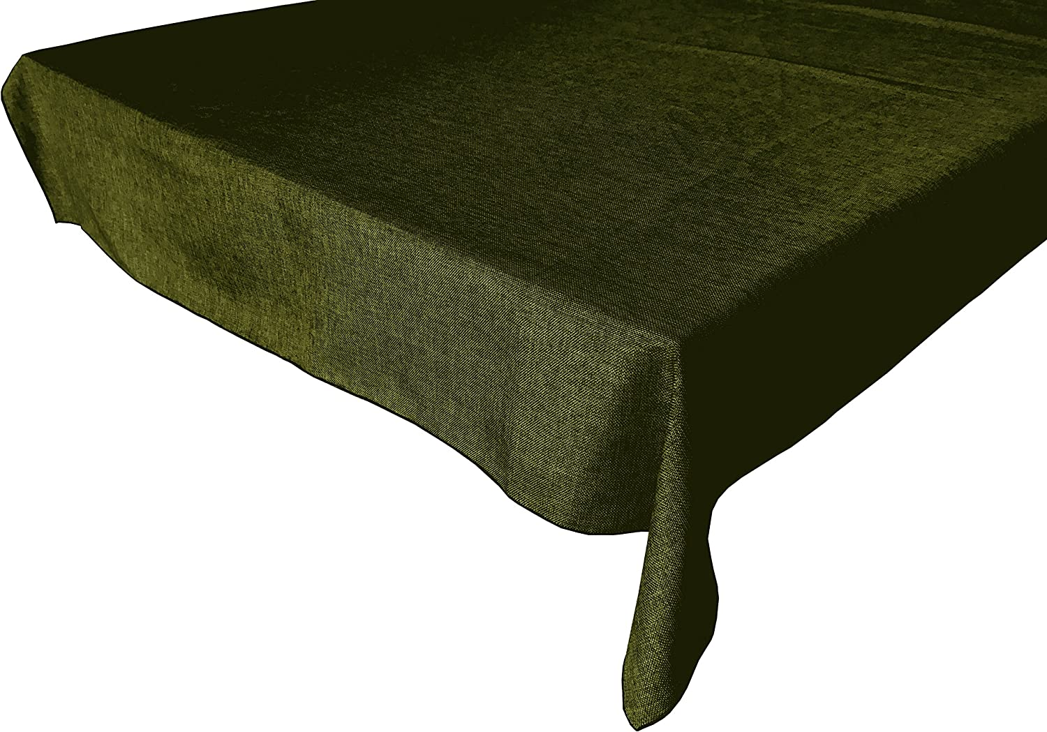 lovemyfabric Faux OFFicial store It is very popular Burlap Style Solid Polyester Olive Color Woven