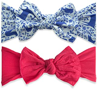 Bows 2 Pack - Girls Patterned and Classic Knot Headbands